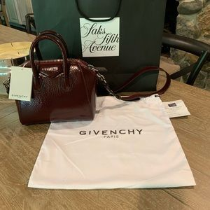 Givenchy Ox Blood Red Antigona Mini Satchel  *BNWT